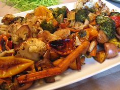 Balsamic Roasted Garlic Veggies. The CURE for the people in your family who swear they don't like vegetables! If you are trying to go even a little more vegan, this is a gourmet  way to begin...
