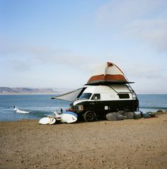 Camp on top, awning off the side- Van Ideas
