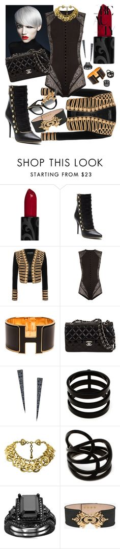 """""""Untitled #186"""" by hellgirl ❤ liked on Polyvore featuring beauty, Balmain, Hermès, Lana, Repossi, Chanel and Anna-Karin Karlsson"""