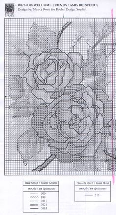 Solo Patrones Punto Cruz (pág. 409) | Aprender manualidades es facilisimo.com fiori amici 1