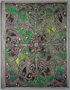 Journal diary Paperblanks - Silver Filigree Collection : Esmeralda - ULTRA