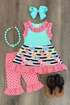 Shop cute kids clothes and accessories at Sparkle In Pink! With our variety of kids dresses, mommy + me clothes, and complete kids outfits, your child is going to love Sparkle In Pink! Little Girl Outfits, Kids Outfits Girls, Cute Outfits For Kids, Little Girl Fashion, Toddler Girl Outfits, Toddler Fashion, Kids Fashion, Fashion Outfits, Trending Boys Clothes