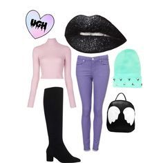 pastel goth by nature4ever on Polyvore featuring A.L.C. and Kurt Geiger See, this is the kind of outfit that i wear