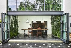 Architect Visit: A Dining Room Wallpapered with Climbing Vines in Brooklyn: Gardenista