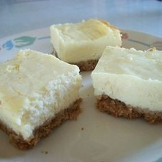 This double-layered dessert is not only beautiful, but also delicious. A smooth cheesecake filling sits on top of a light lemony layer to make this the perfect finish to any meal.