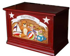 Toy Box Personalized by AlPisano on Etsy