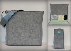 Ready to ship* XS Ella style Breast Pump Bag in PP Jackson print with zipper top closure by EllaAlana on Etsy