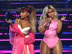 Nicki Minaj and Ariana Grande Get Cheeky During Work Out-Themed 'Side to Side'…