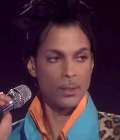 Prince during his performance at the Super Bowl in 2007