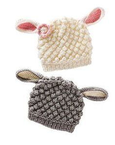 Crochet Child Hats Lamb Knit Hat