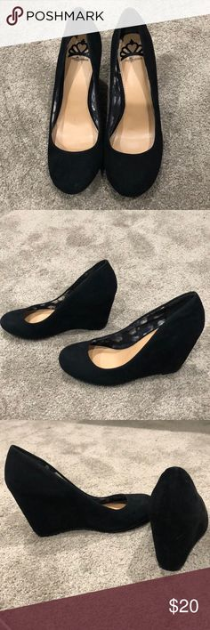 fergalicious black wedges size 8.5 worn a couple times perfect condition Fergalicious Shoes Heels