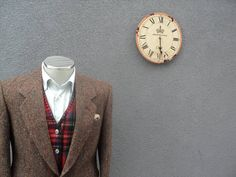 1980s HARRIS TWEED Jacket / Vintage Scottish Wool Sport Coat /