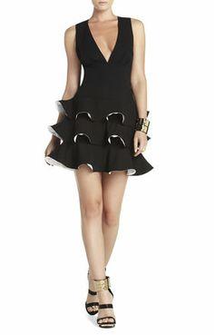 Katia Ruffled Sleeveless Dress   BCBG