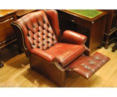 Leather Wingback Recliner | Oxblood Wingback Chesterfield Leather Recliner Armchair London . & Pair of English Green Leather Wingback Chairs | Leather wingback ... islam-shia.org
