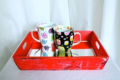 Mirrored Red Tray by LunaKellyHome on Etsy, $32.00