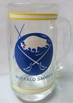 "Vintage Buffalo Sabres National Hockey League Glass Mug Cup 5 1/2"" Tall National Hockey League Buffalo Sabres http://www.amazon.com/dp/B00UBI4V24/ref=cm_sw_r_pi_dp_Ugu-ub1Q053KY"