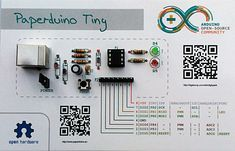 Following in the footsteps of the original Paperduino—and the Paperduino Leonardo—comes the Paperduino Tiny.