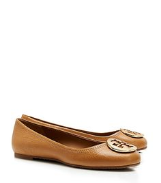 f4f93e8d2eded4 from tory burch  reva tumbled leather ballet flat (in royal tan   gold)