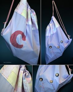 A little fabric bag for a girl named C