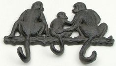 Cast Iron Monkey Hooks
