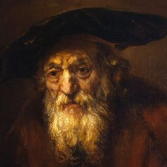 Another favourite old master of mine - Portrait of an Old Jew by Rembrandt Harmensz van Rijn (detail) Rembrandt Portrait, Rembrandt Art, Rembrandt Paintings, Classic Paintings, Old Paintings, Drawn Art, Baroque Art, Dutch Painters, Jewish Art