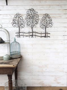 Metal Tree Wall Art Metal Wall Decor Large Wall by CamillaCotton