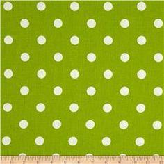 Premier Prints Polka Dot Chartreuse/White