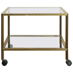 Italian Bar Cart in Brass | See more antique and modern Carts at https://www.1stdibs.com/furniture/more-furniture-collectibles/carts $1586