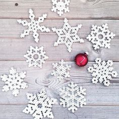 Christmas snowflakes ornaments hama beads by evabsund