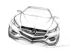 벤츠 프런트 스케치  그릴은 벤츠인데 헤드라이트가 BMW인..??