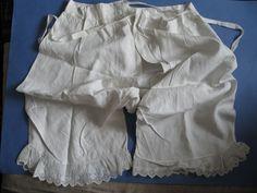 Панталоны старинные ручная работа кружево