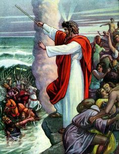Moses at the Red Sea (Bible Primer, 1919)