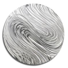All Natural Silver Abstract Metal Wall Art Accent Modern