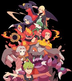 The Elite Four and Champion (4 out of 6)