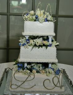 stacking wedding cakes without pillars three tier wedding cake with columns and filigree by 20479