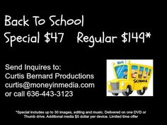 Back To School Video special