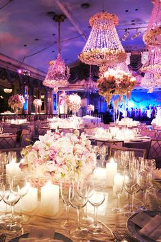 A significant hallmark of an over-the-top wedding is the use of beautiful and luxurious table linens. Guests not only see linen, they also touch it. That sensual, tactile sensation can be more profound than one might think. The color and fabric options are unlimited and can be tailored to match the mood of any event.