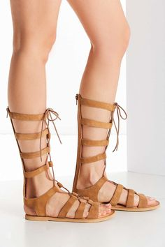 Tall Suede Gladiator Sandal $78