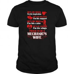 Rock Balance Anchor Proud A Mechanics Wife Tshirt