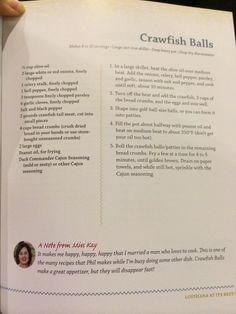 Mrs Kay's crawfish balls