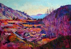 Sierra mountains original oil painting by backpacking artist Ern Hanson