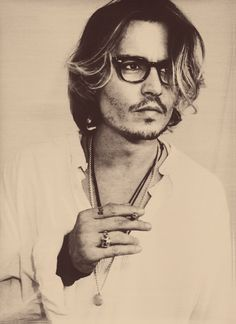 actor, black and white, johnny depp, man