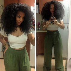Yes her hair is perfect, but I want that hour glass shape...I guess I should be thankful for rectangular shape