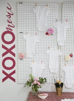 Black, White, and PInk XOXO Baby Shower