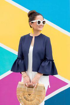 028d2ae92693 Celine White Marta Sunglasses Frill Jackets