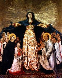 Image:  Spanish School - Our Lady of Grace and the Masters of the Order of Montesa