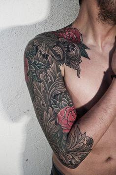 Rose sleeve. #tattoos #tattooed #ink