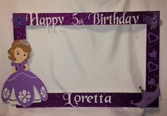 photo frame party prop princess Sofia the by titaspartycreations: