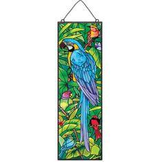 Rainforest Blue Macaw Stained Glass Suncatcher Window Panel W X 16 H Joan Baker Designs Blue Macaw, Stained Glass Quilt, Vintage Carnival, Panel Art, Window Panels, Mercury Glass, Carnival Glass, Glass Collection, Suncatchers