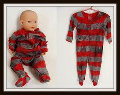 custom made FREDDY KRUEGER Zom-Baby Zombie Onesie Halloween Costume Infant 6-12 months on Etsy, $40.00